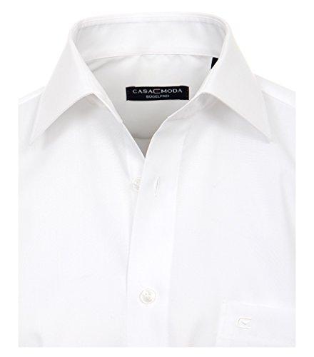 CASA Moda - Comfort Fit - Bügelfreies Herren Business Uni Langarm Hemd (006050) Weiß (0)