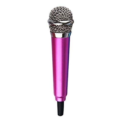 Busirde 3,5 mm Stereo-Studio-bewegliche Mini Speech Mic Audio Mikrofon Smart-Phone Laptop PC Desktop-Zubehör stieg rot Mic Zubehör