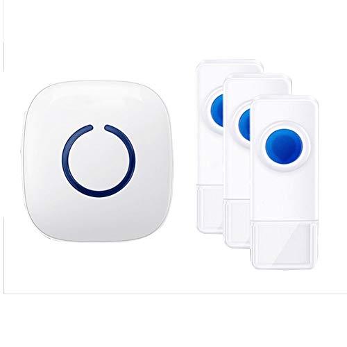 Persönliche Medizinische Alarme (HUJIUQI QINGJIU Anrufer-Ausgangsfernsteuerungs-Türklingel-drahtloser älterer Patient EIN für Zwei Tow eine Batterie (Farbe : 1 to 3 (1 Host+3 Call Button)))