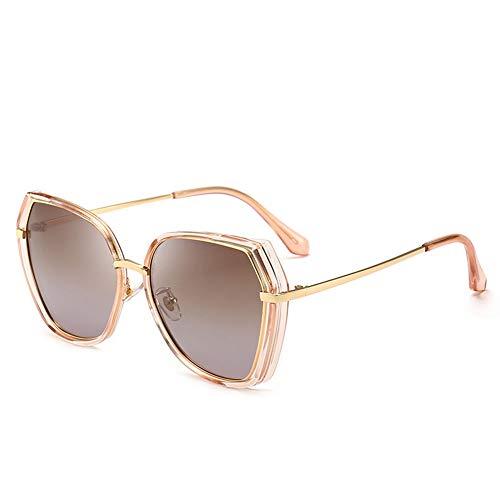 Thirteen Bunte Polarisierte Sonnenbrille Weibliche Anti-UV-Fahren Fahrspiegel Retro Gesicht Polarisierte Sonnenbrille, Geeignet Für Dekoration, Sonnenschutz, Reisen (Color : Brown)