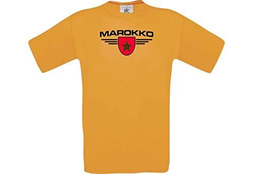 Shirtstown Man Camiseta Marruecos Camiseta País Su