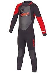 Jobe Niños Progress Rebel 3/2.5 Red Wetsuits, todo el año, infantil, color rojo, tamaño L