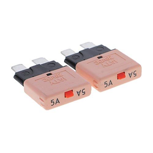 MagiDeal 12V Auto Rückstellbare Mini Klinge Sicherung manuelle Leistungsschalter - 5A, Grün -