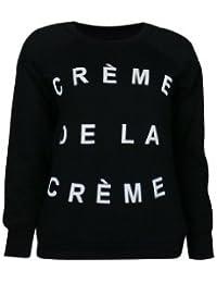 """(womens beyonce """"creme da la creme"""" black sweater(STY) Femmes Beyonce """"creme de la reme"""" noir chandail"""