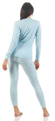 Damen Ski Set Unterwäsche Funktionsunterwäsche innen angeraut 3 Farben wählbar in den Grössen S bis XL 1 Hose hellblau