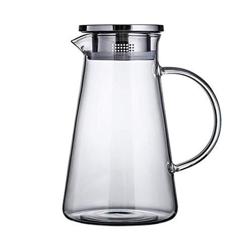 GPMSE Glaskrug Krug, Glas Wasserflasche große Kapazität und langlebig ist sehr geeignet für Eistee Wein Kaffee Milch und Saft Trinken Flasche Geschenk für die Familie NA (Size : 14×23.5×8.5)
