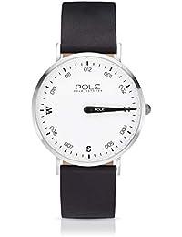 Pole Watches - Polar - Reloj Analógico de Cuarzo para Hombres con Esfera Blanca y Correa