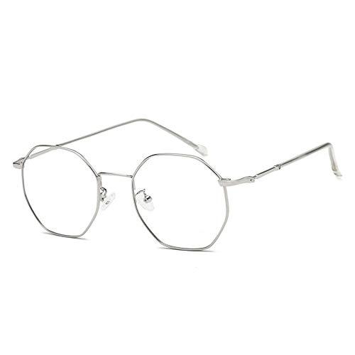Sonnenbrillen Mode Blaue Brillengestell-Metallflachlinse forMens and Women LUE Shading Glasses für Sutdents/Büroangestellte