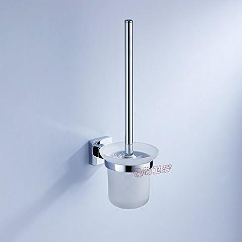 HanMei WC in acciaio INOX per WC, il bagno sono porta pennelli, con barattolo in vetro