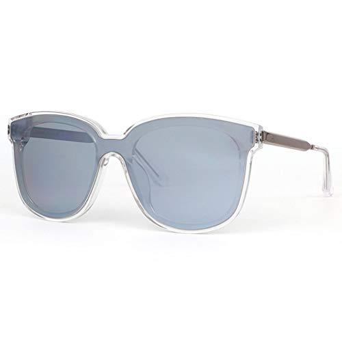 WangYi Sonnenbrillen- Vintage Unisex-UV-Schutz Sonnenbrille, Einteilige Nylon-Sonnenbrille, eckige Sonnenbrille, handgefertigt, schwarz, Silber, grau (Color : Silver, Size : 14.1cm)