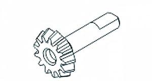 Jamara Jamara504210 Bevel Gear - Cochecito para X3 Spiral 13T