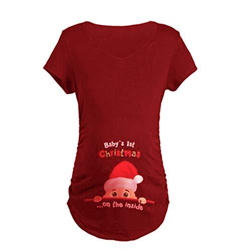 Q.KIM Camiseta Maternidad Ropa Premamá Estampado