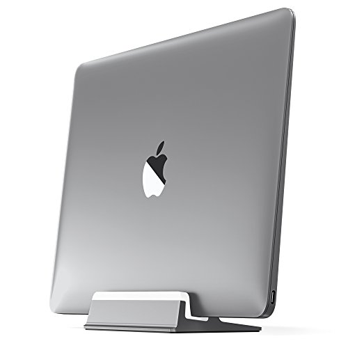 "UPPERCASE KRADL Aluminum Vertical Stand for MacBook 12"", Space Gray/White"