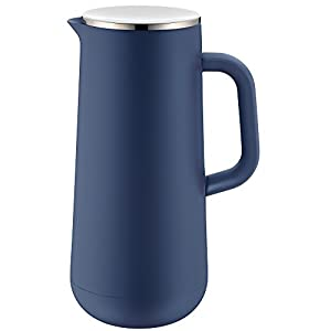 WMF Impulse Prussian Blue Coffee Tea Thermos 1 L, Height 28.5 cm Glass Insert Screw Lock 24 Hour Cold and Warm Gift Box