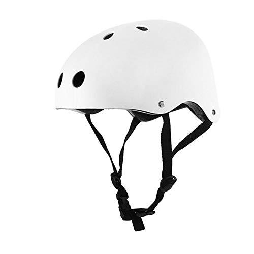 CXQBYNN Fahrradhelm, Sicherheitskind Für Erwachsene Fahrradhelm, Farb- Und Größenoptionen (Color : White, Size : M)