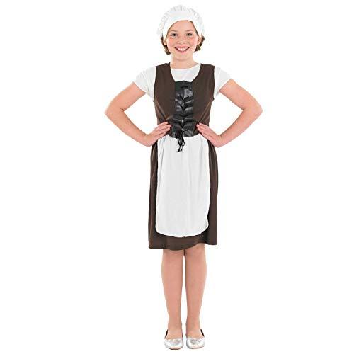 Childs Tudor Kostüm - Fun Shack FNK2495XL Kostüm, Tudor Girl, XL