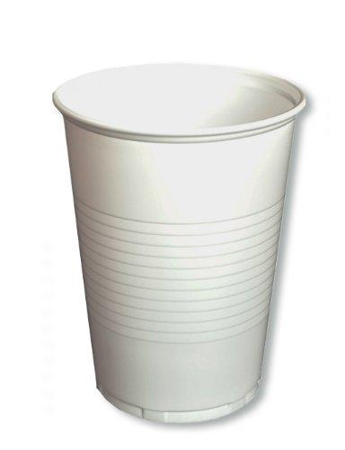 """500 - 6000 Becher """"to go"""" Trinkbecher Einwegbecher Plastikbecher 0,2 Liter (200 ml) weiß (1000)"""
