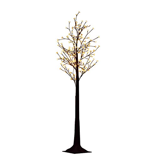 aufun LED Árbol con flores de cerezo árbol luminoso Eclairage decorativo LED Árbol luminoso, Base en Pvc, 220cm - 220LEDs