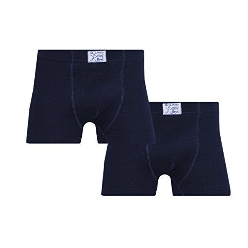 Ott-tricot Kinder Boxershorts Pant 2er-Pack 100% gekämmte Baumwolle Dunkelblau Gr. 98/104 - 170/176 Unterhose