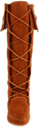 Minnetonka Front Knee Hi, Bottes Indiennes Femme Marron (Brown)