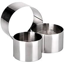 """JPF - Set di 3 Chef Coppapasta """"Anello"""" - Stampo Circolare - Acciaio Inox - 6, 8 e 10 cm"""