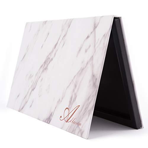 Allwon Magnetische Palette Marmor leer Make-up-Palette mit Spiegel für Lidschatten-Lippenstift erröten Pulver