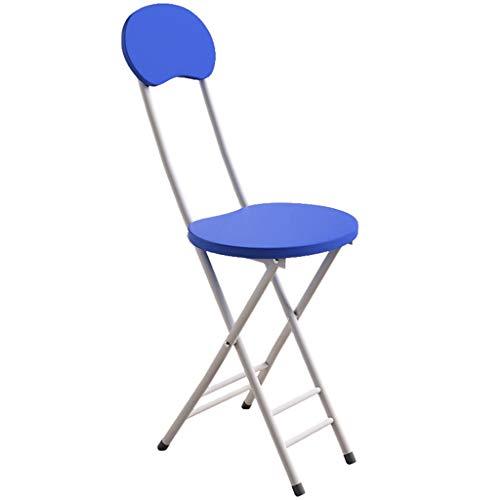 ZY Folding chair Einfaches Design der Metallrahmen-faltbaren Stühle, moderner Freizeit-Büro-Sitzstuhl, für Café-Umkleidekabine-Küchen-Büro-Balkon