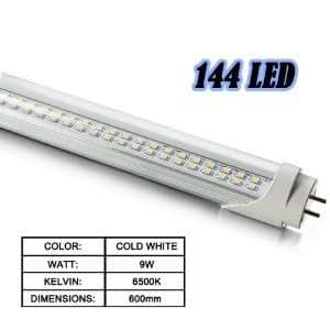 T8 LED TUBE TUBE 989 911 144 600 MM 9W LED BLANC FROID 6500K COULEUR NEON LED