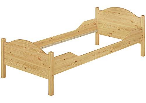 Erst-Holz® Massivholz-Bett Kiefer Einzelbett Natur 100x200 Bettgestell ohne Lattenrost 60.30-10 oR
