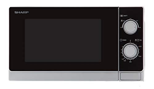 Sharp R-200(IN) W Microondas 20L, Control Mecánico, 800W, Silver, 800 W, 20...