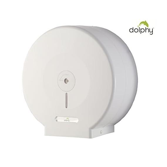 Dolphy Anti-Dust Jumbo Roll Toilet Paper Dispenser