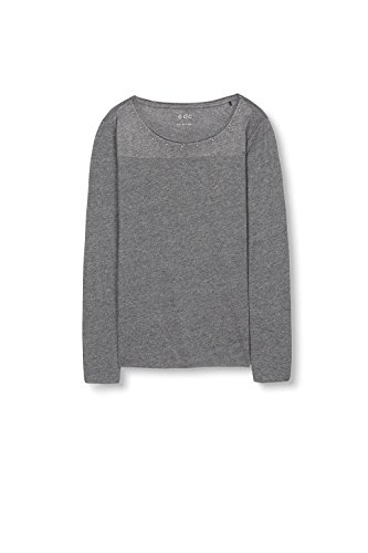 edc by ESPRIT Damen T-Shirt Grau (Black 001)