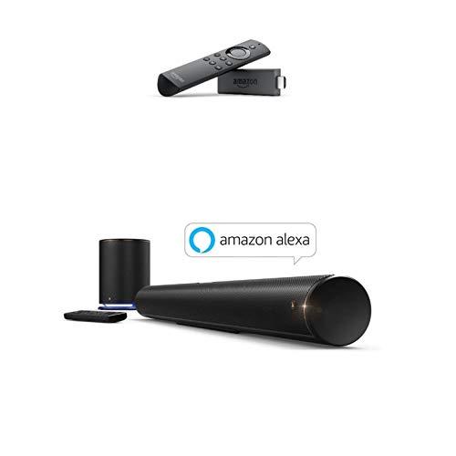 Hama TV Soundbar und Subwoofer (mit Integrierter Amazon Alexa, Dolby 2.1 Sound, Bluetooth/USB/WLAN, Wireless Soundsystem, Sirium4000ABT) schwarz inkl. Fire TV Stick