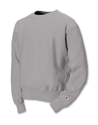 Champion Men's Reverse Weave Crewneck Sweatshirt, Silver Gray, Medium
