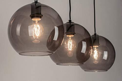 Lumidora Pendelleuchte Modern Retro Glas Metall