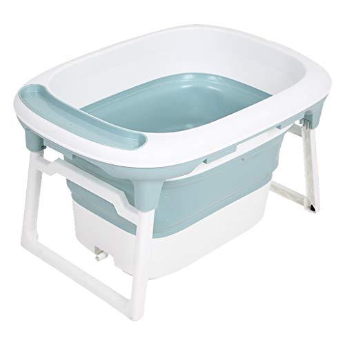 TTKA Badewanne Faltbare Baby mit Abnehmbarem Sitz und Weichem Badnetz, Bad Mädchen Oder Jungen Spielzeug Baby Badewanne Unterstützung, for 0~12 Jahre Alt (Color : Single Barrel) -