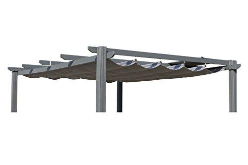 OUTFLEXX Ersatzdach für LECO Pergola, Garten-Pergola in anthrazit, Pavillon aus Polyester Textil,...