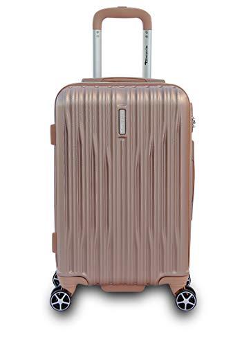 Tamaris Joy Kleiner Hartschalen Koffer, 4 Rollen Reisekoffer für Damen/Herren mit Zahlenschloss, 58x38x23 – 35L, Rose
