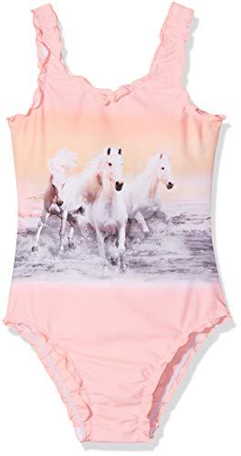 Sanetta Mädchen Badeanzug Swimsuit Rosa (Pink Neon 38064) 116