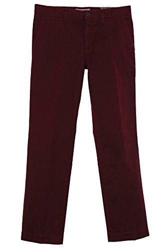 Alberto George Chino Hose Herren Modern Fit Pima Cotton, Farbe:weinrot;Hosengrößen:W34;Hosenlängen:L32 (Herren Pants George)
