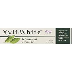 Now Foods, Solutions, xyli • Gel dentifrice blanc, sans fluor, Refreshmint, 6.4 oz (181 g)