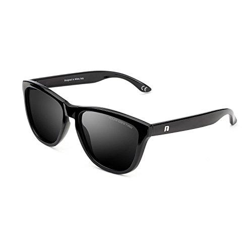 CLANDESTINE Model Black - Gafas de Sol de Nylon HD para Hombre & Mujer