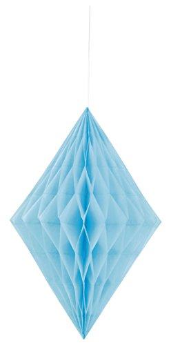 Unique Party - 62981 - Diamant Décoratif en Papier de Soie - 35 cm - Bleu Pastel