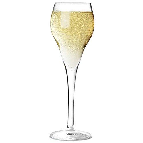 Brio champán copas 9,5cl juego de 6copas cristal templado champán Cava