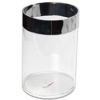 Sweet Home Collection Waste Basket, Decorative, Vibrant, Durable and Reusable for Sink or Countertops Hassle Free, Easy Care, Adding Style to Existing Décor with Elegant Designs, Clear