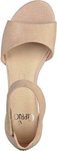 Caprice Damen 28212 Offene Sandalen mit Keilabsatz Beige