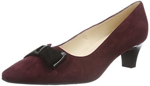 Peter KaiserEDELTRAUD - Scarpe con Tacco Donna , Rosso (Rot (CABERNET SUEDE SCHWARZ  LACK  SUEDE 132)), 38