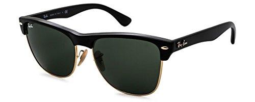 Ray-Ban 0RB4175 Square Sunglasses (57mm Matte Black Frame w/ Solid Black G15 Lens)