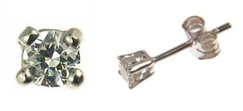 Imagen principal de Naava 152/181W - Pendientes de mujer de oro blanco (9k) con diamantes