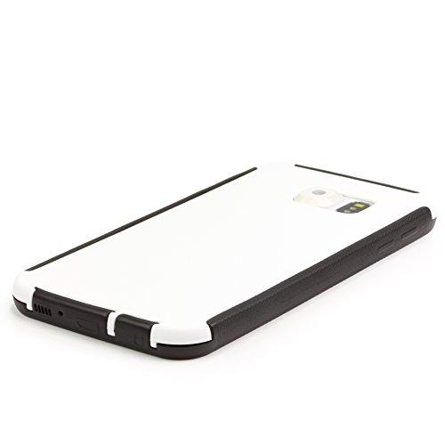 URCOVER® Housse Coque Tactile Complet | Apple iPhone 4 / 4S | Plastique Rose | Étui Téléphone Portable Sac Protection Écran Armor Cover Case Blanc